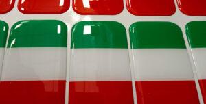Etichette resinate rettangolari