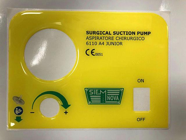 Etichette resinate per attrezzature medicali