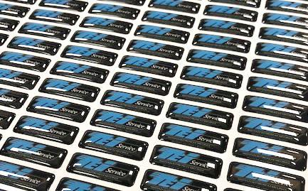 Stampa etichette resinate