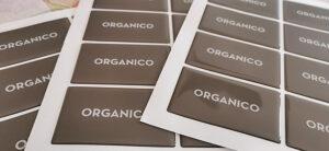 Etichette resinate per la raccolta organica