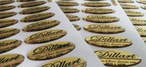 Etichette resinate oro a specchio