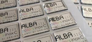 Etichette resinate argento a specchio